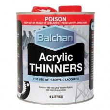 Balchan Acrylic Thinners 4Lt